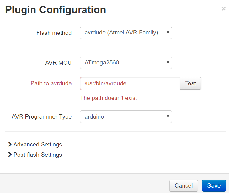 Firmware updater can't find avrdude - Plugins - OctoPrint Community