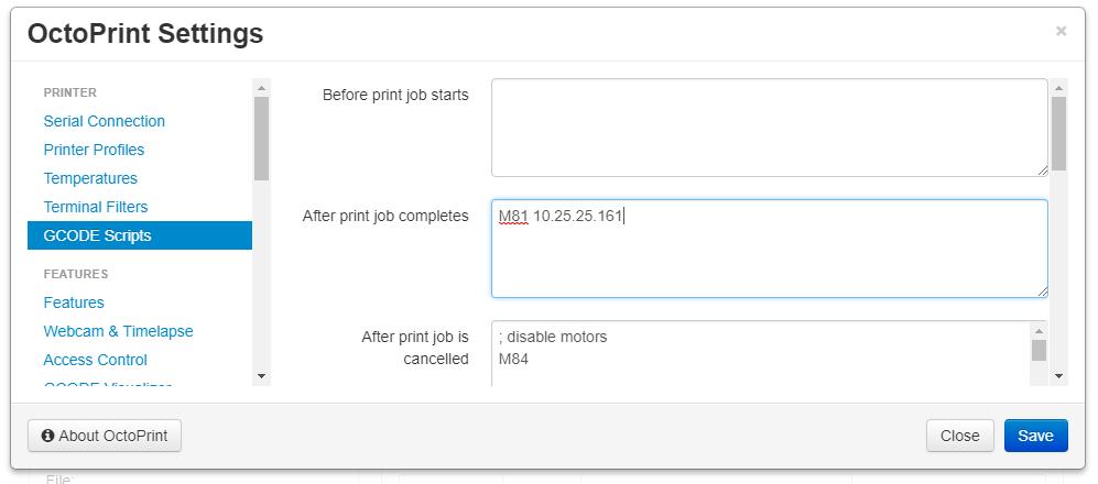 OctoPrint-TPLinkSmartplug doesn't turn off printer when job finished