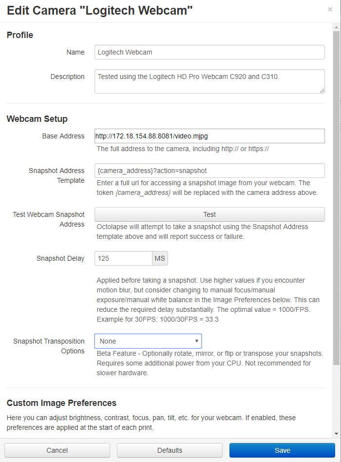 Octolapse on windows Camera issues - Plugins - OctoPrint