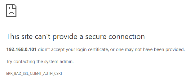 Restrict Access to OctoPi Utilizing SSL Client Certificates - Guides